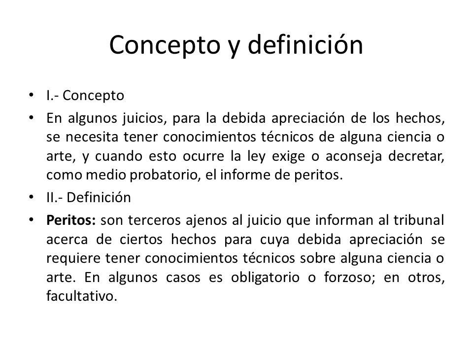 Concepto y definición I.- Concepto