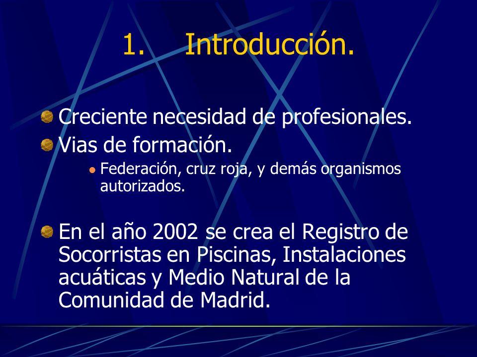 1. Introducción. Creciente necesidad de profesionales.