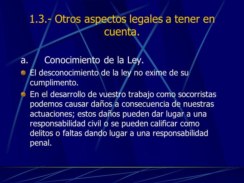 1.3.- Otros aspectos legales a tener en cuenta.
