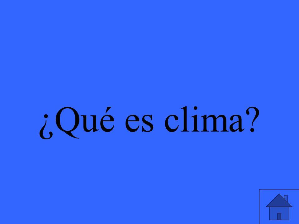 ¿Qué es clima