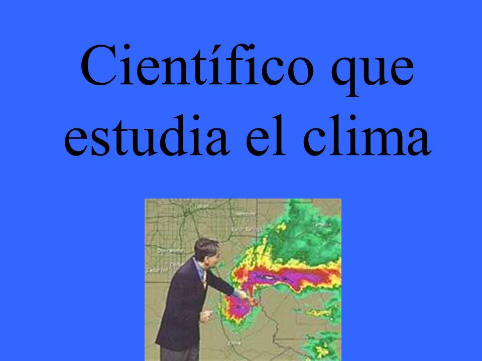 Científico que estudia el clima