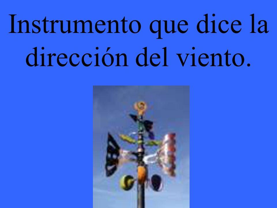 Instrumento que dice la dirección del viento.