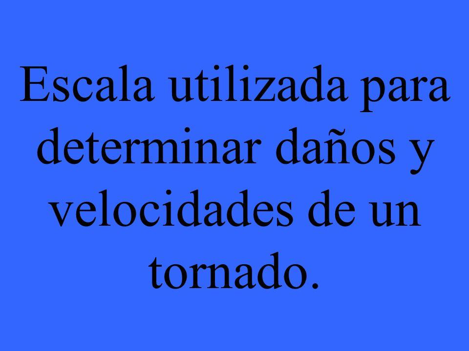 Escala utilizada para determinar daños y velocidades de un tornado.