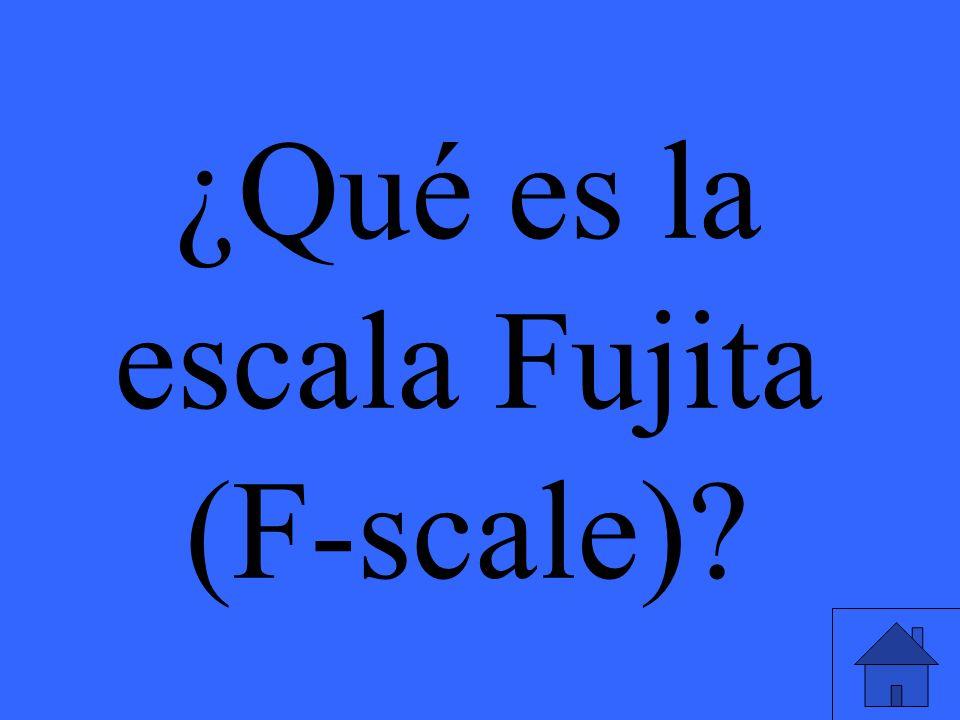 ¿Qué es la escala Fujita (F-scale)