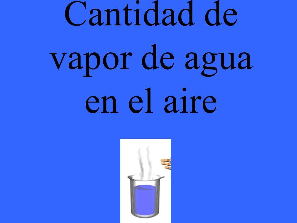 Cantidad de vapor de agua en el aire
