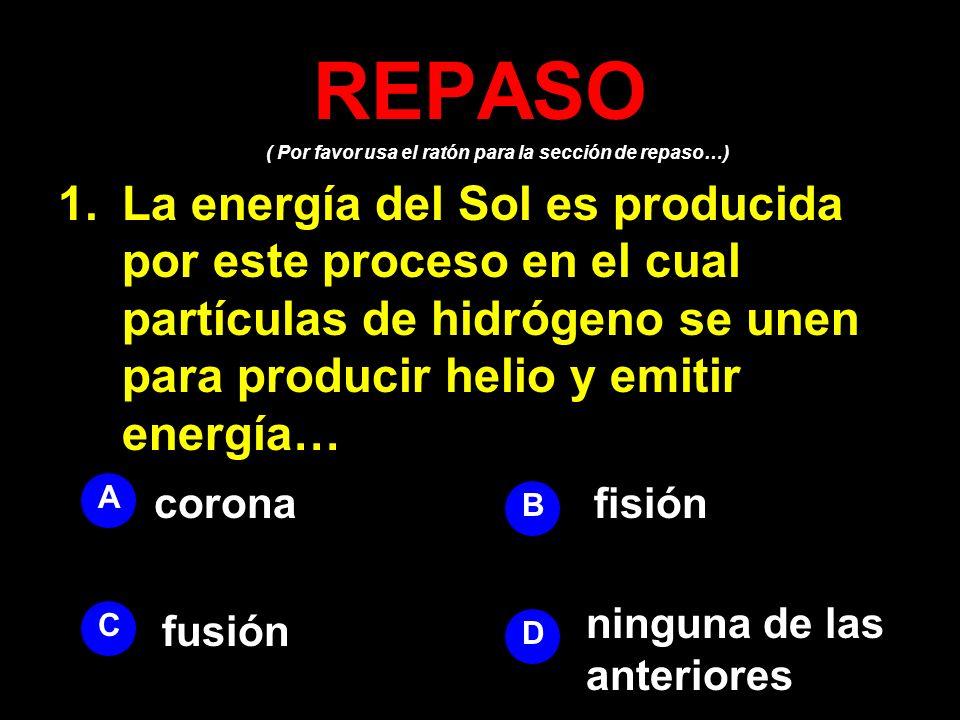 REPASO ( Por favor usa el ratón para la sección de repaso…)