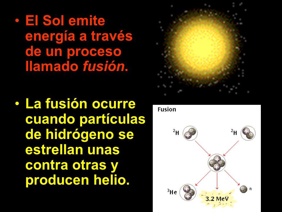 El Sol emite energía a través de un proceso llamado fusión.