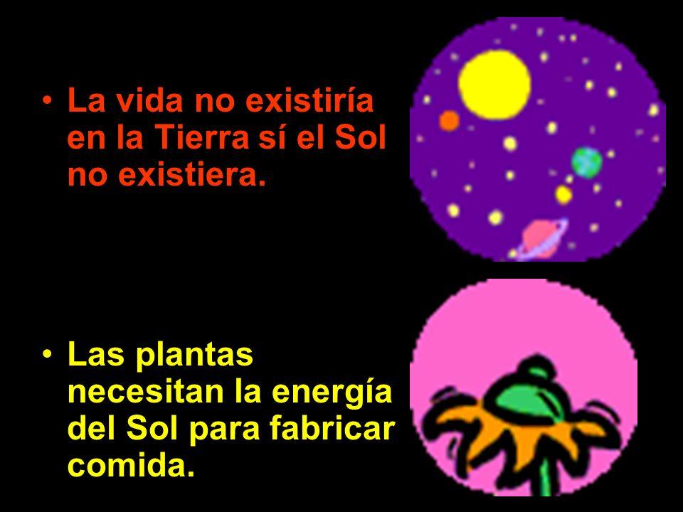 La vida no existiría en la Tierra sí el Sol no existiera.