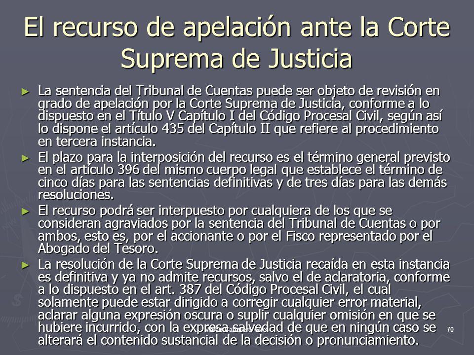 El recurso de apelación ante la Corte Suprema de Justicia