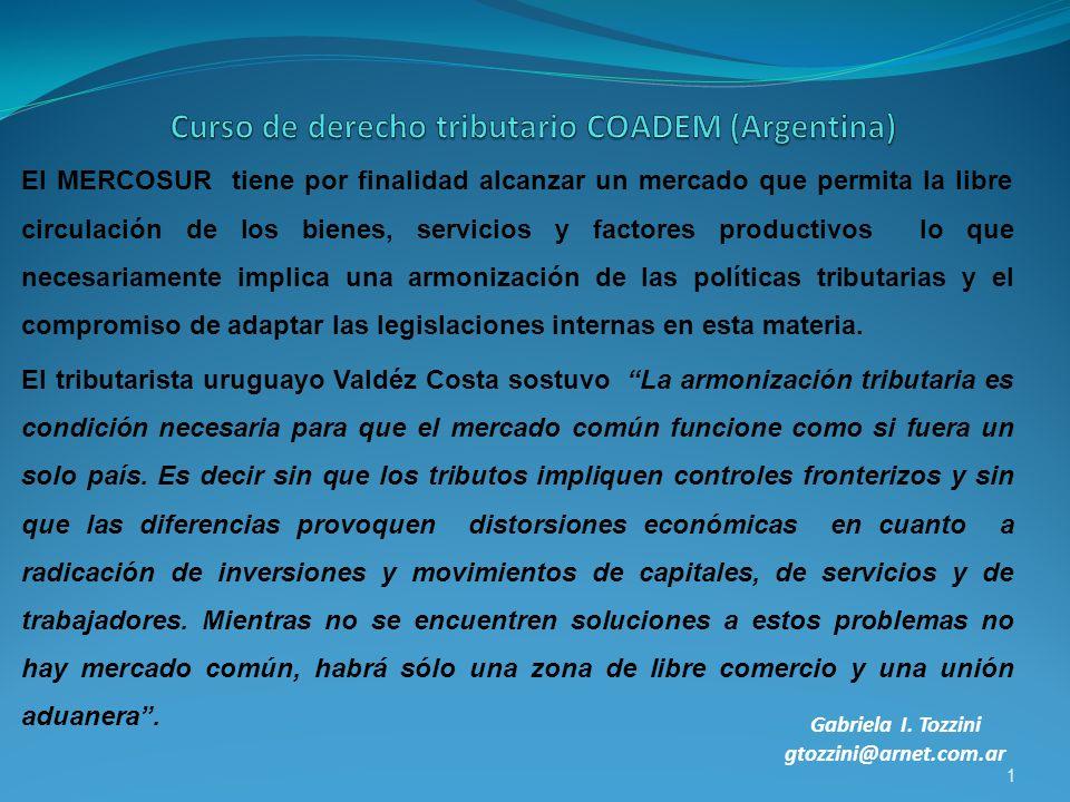 Curso de derecho tributario COADEM (Argentina)