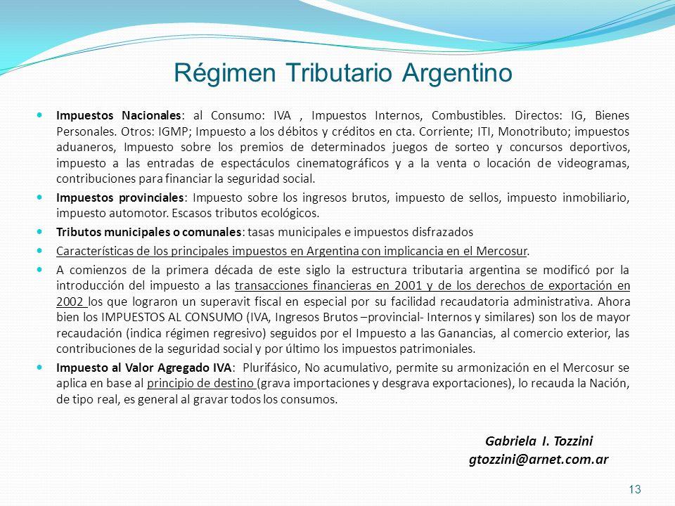 Régimen Tributario Argentino