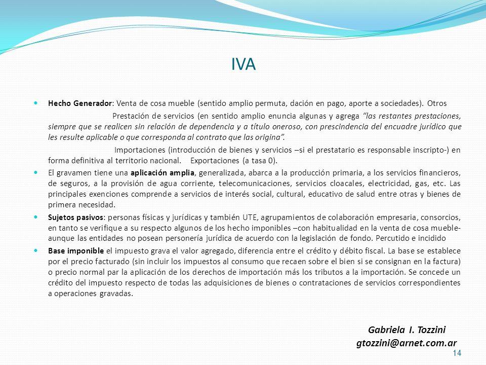 IVA Gabriela I. Tozzini gtozzini@arnet.com.ar