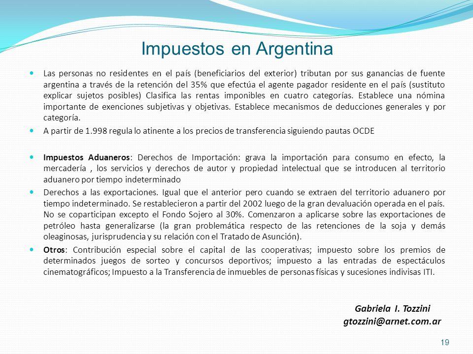 Impuestos en Argentina