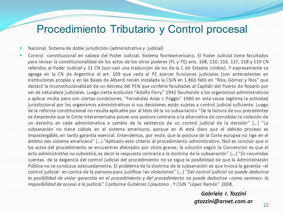 Procedimiento Tributario y Control procesal
