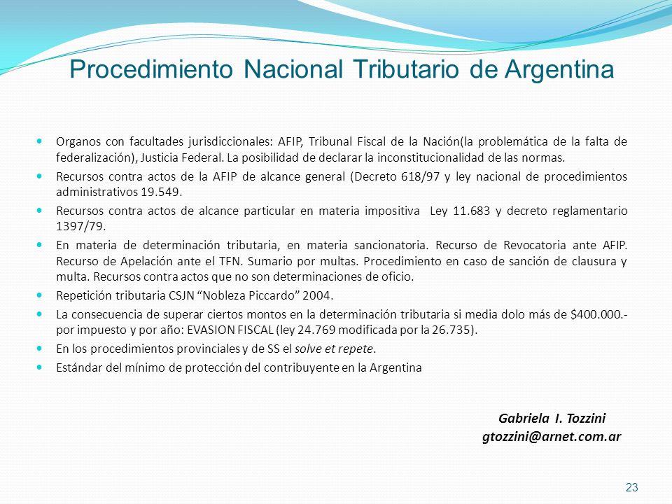 Procedimiento Nacional Tributario de Argentina