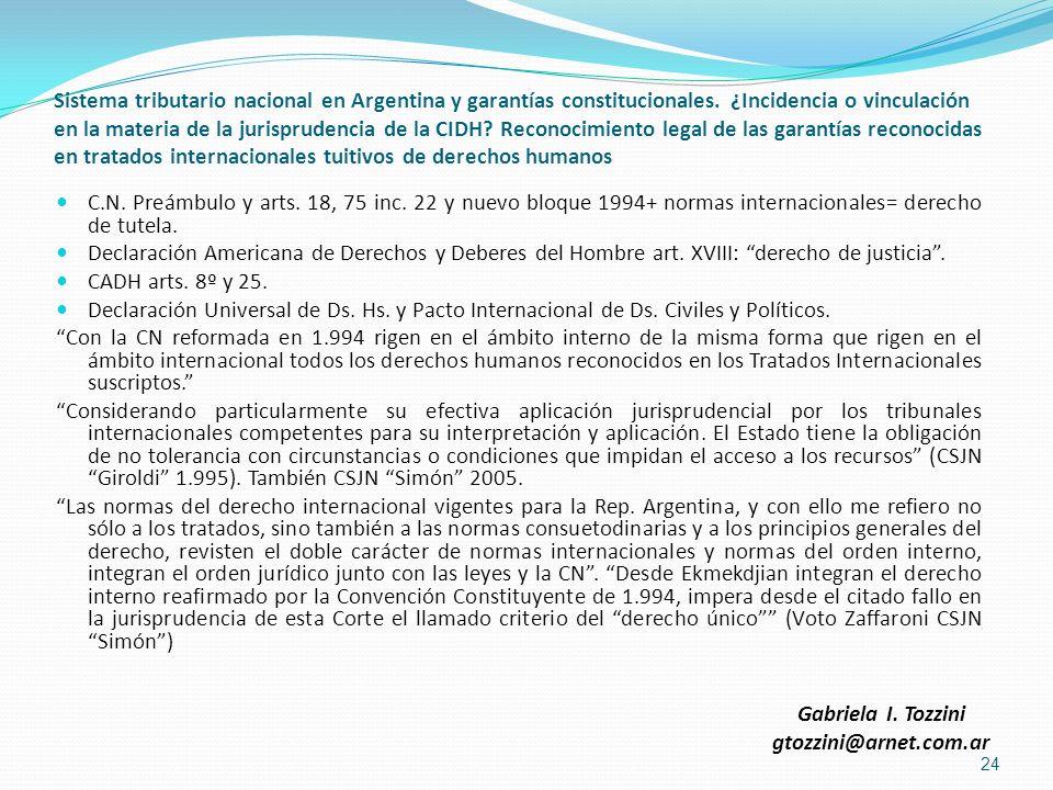 Sistema tributario nacional en Argentina y garantías constitucionales