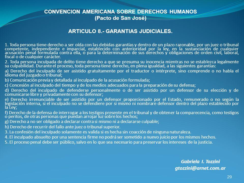 CONVENCION AMERICANA SOBRE DERECHOS HUMANOS (Pacto de San José)