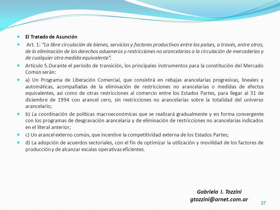 Gabriela I. Tozzini gtozzini@arnet.com.ar