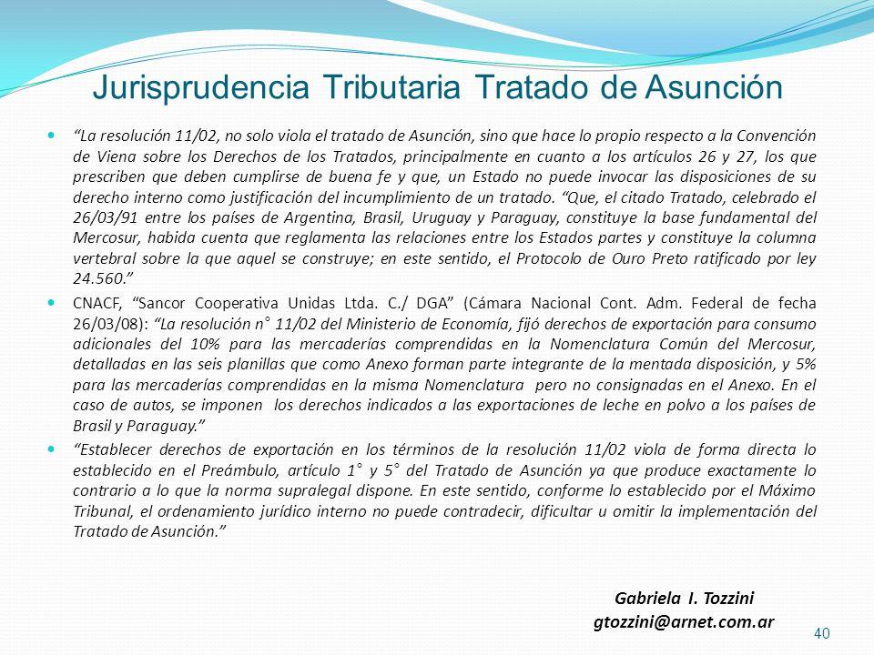 Jurisprudencia Tributaria Tratado de Asunción