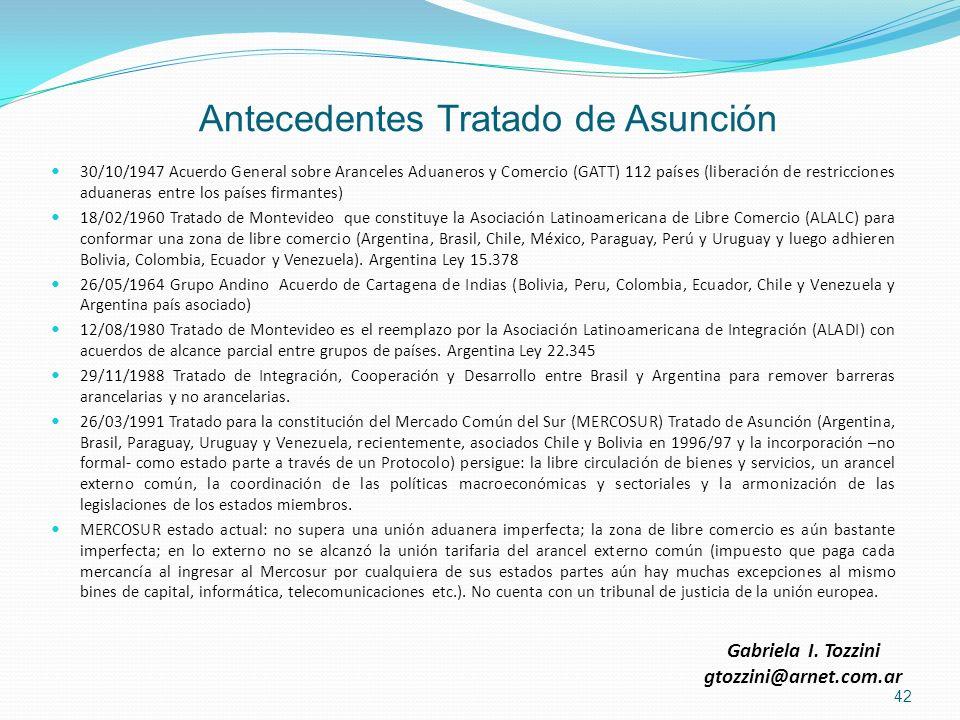 Antecedentes Tratado de Asunción