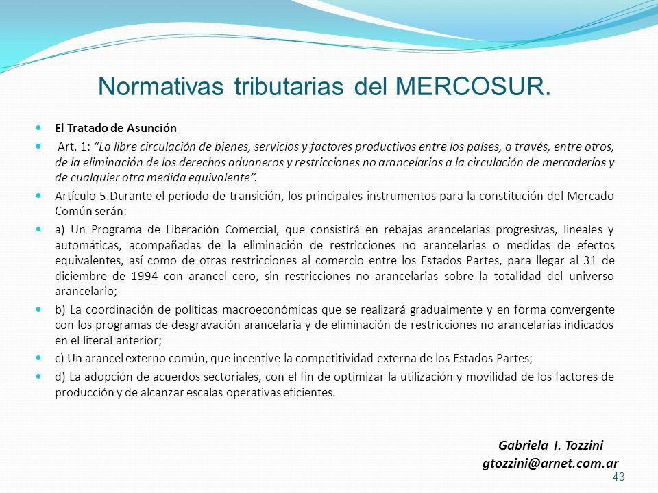 Normativas tributarias del MERCOSUR.