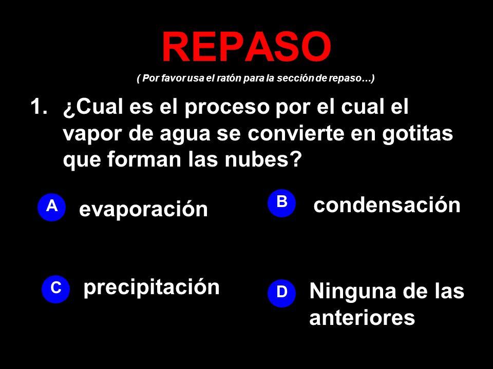 REPASO( Por favor usa el ratón para la sección de repaso…)