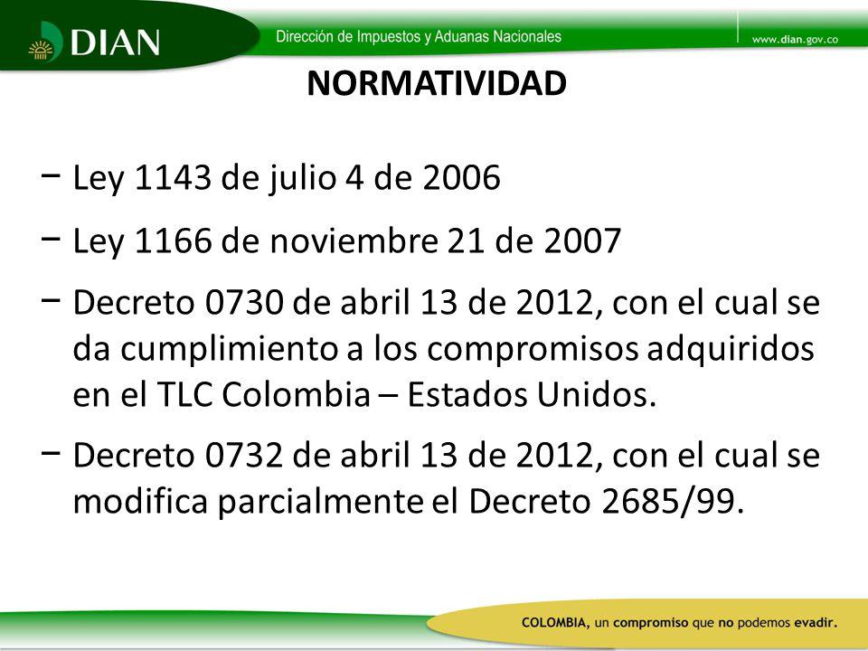 NORMATIVIDAD Ley 1143 de julio 4 de 2006. Ley 1166 de noviembre 21 de 2007.