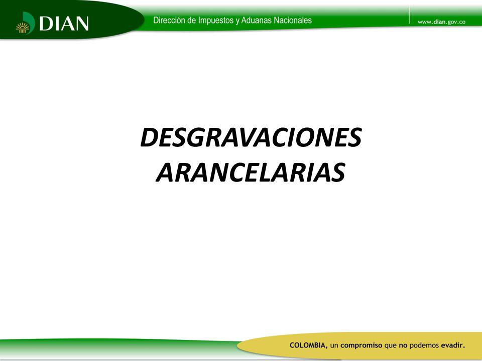 DESGRAVACIONES ARANCELARIAS