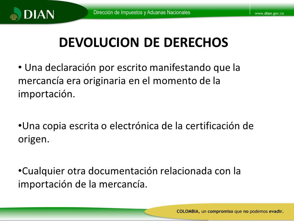 DEVOLUCION DE DERECHOS