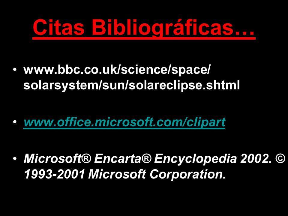 Citas Bibliográficas…