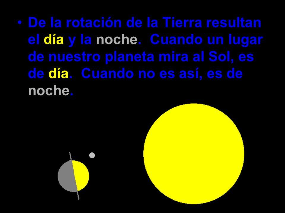 De la rotación de la Tierra resultan el día y la noche