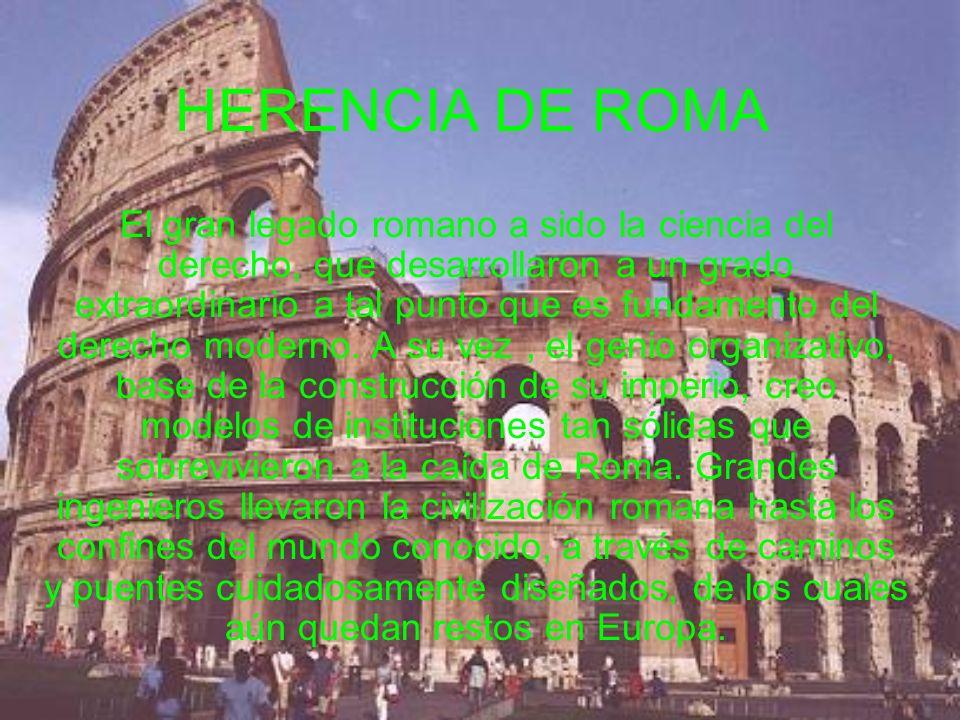 HERENCIA DE ROMA
