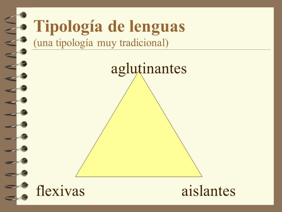 Tipología de lenguas (una tipología muy tradicional)