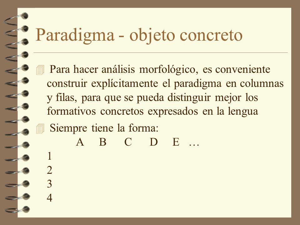 Paradigma - objeto concreto