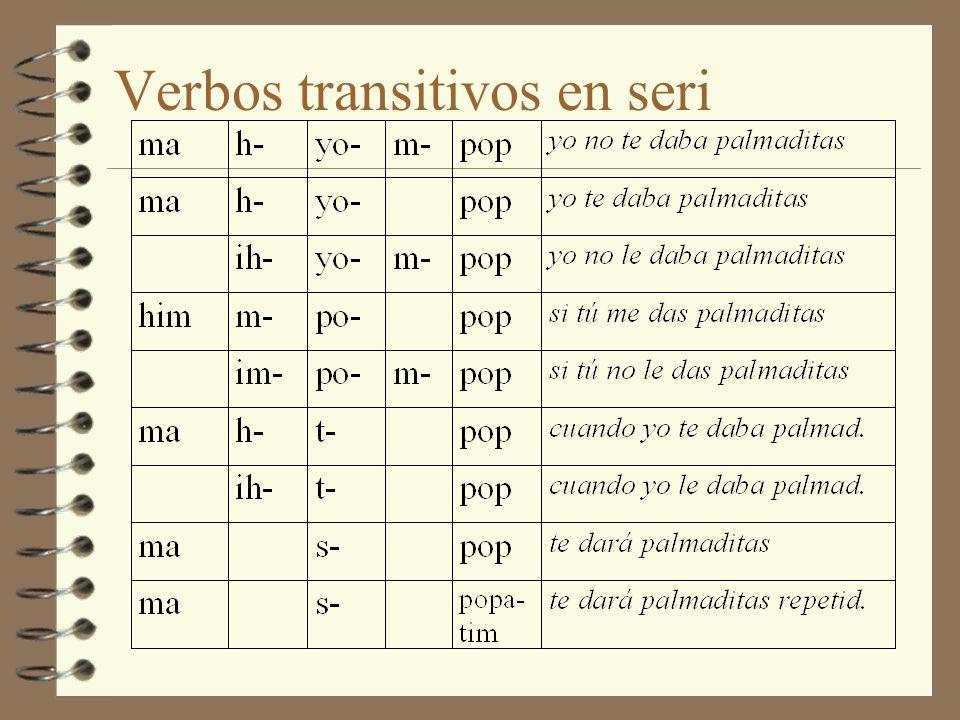 Verbos transitivos en seri