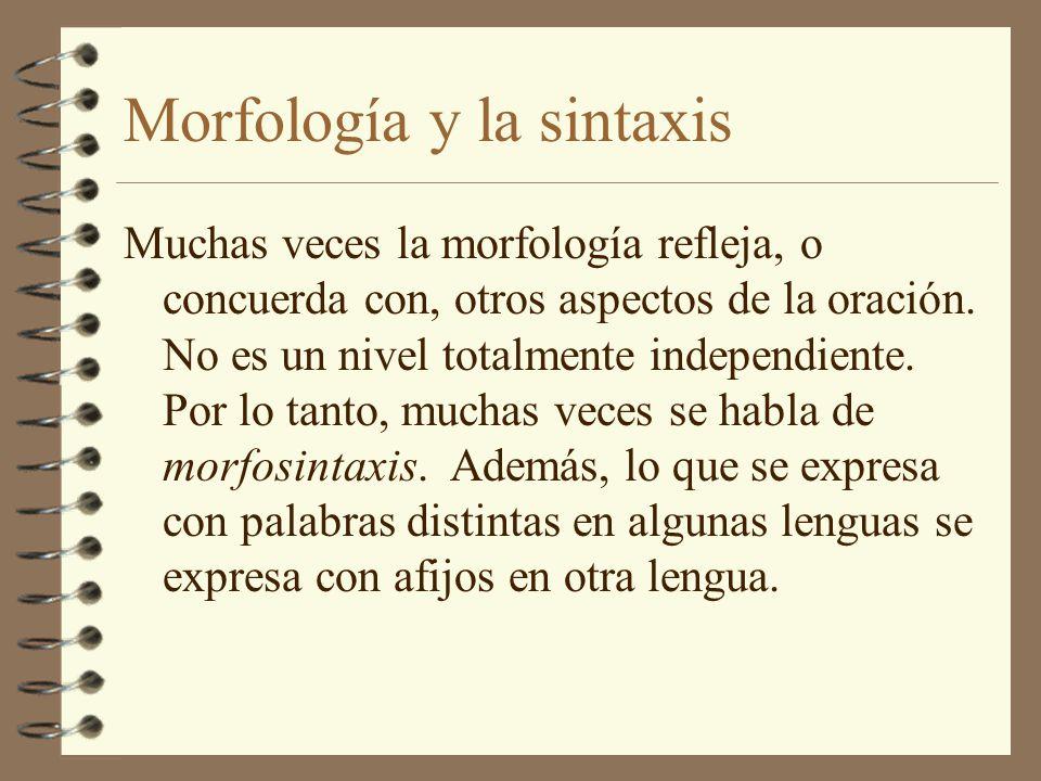 Morfología y la sintaxis