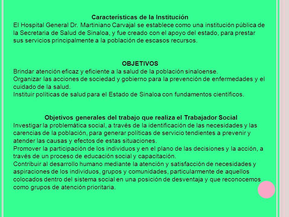 Características de la Institución