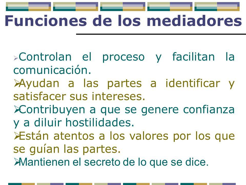 Funciones de los mediadores