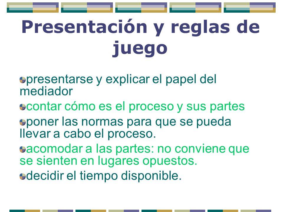 Presentación y reglas de juego
