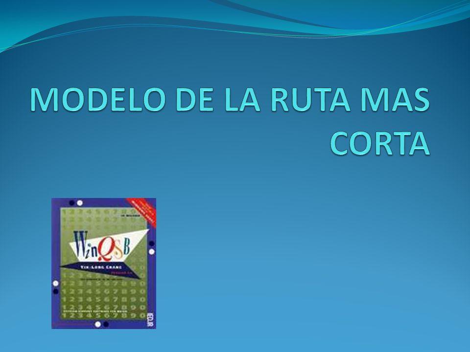 MODELO DE LA RUTA MAS CORTA
