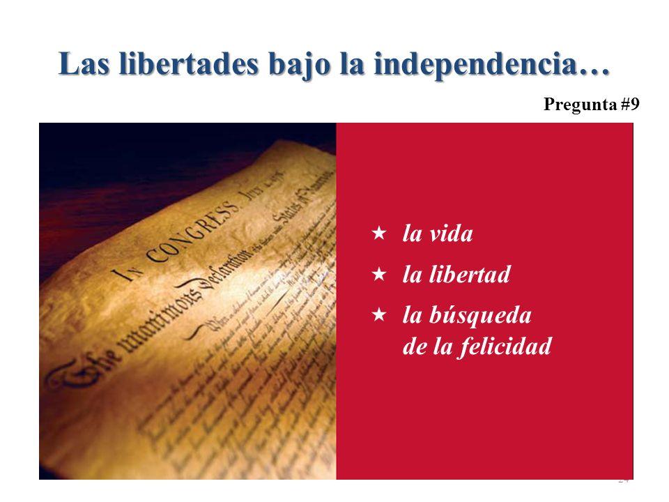 Las libertades bajo la independencia…
