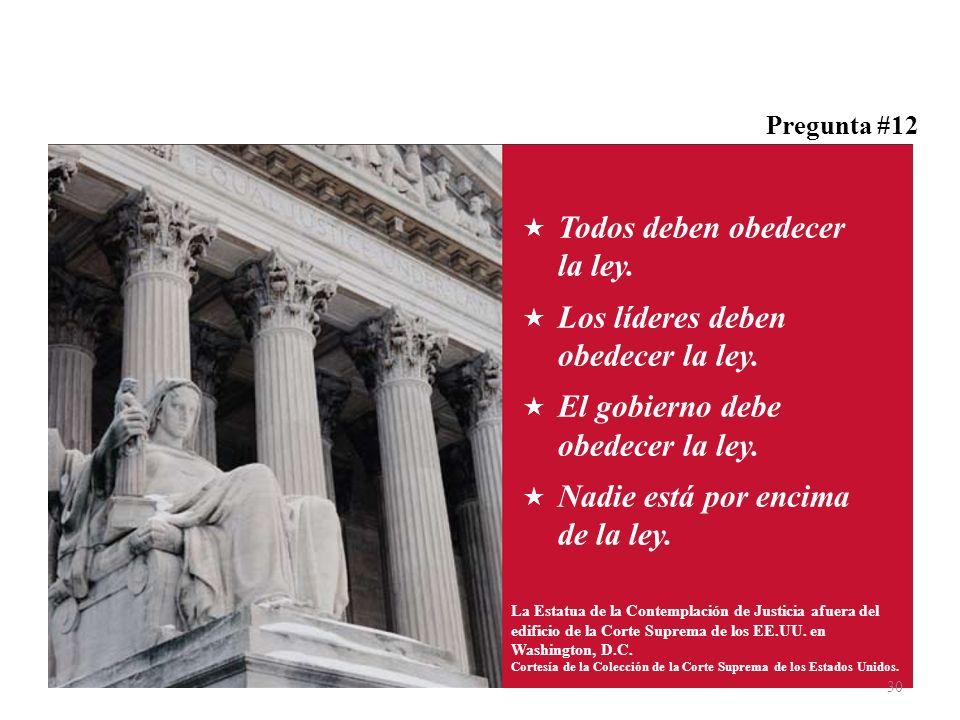 Todos deben obedecer la ley. Los líderes deben obedecer la ley.