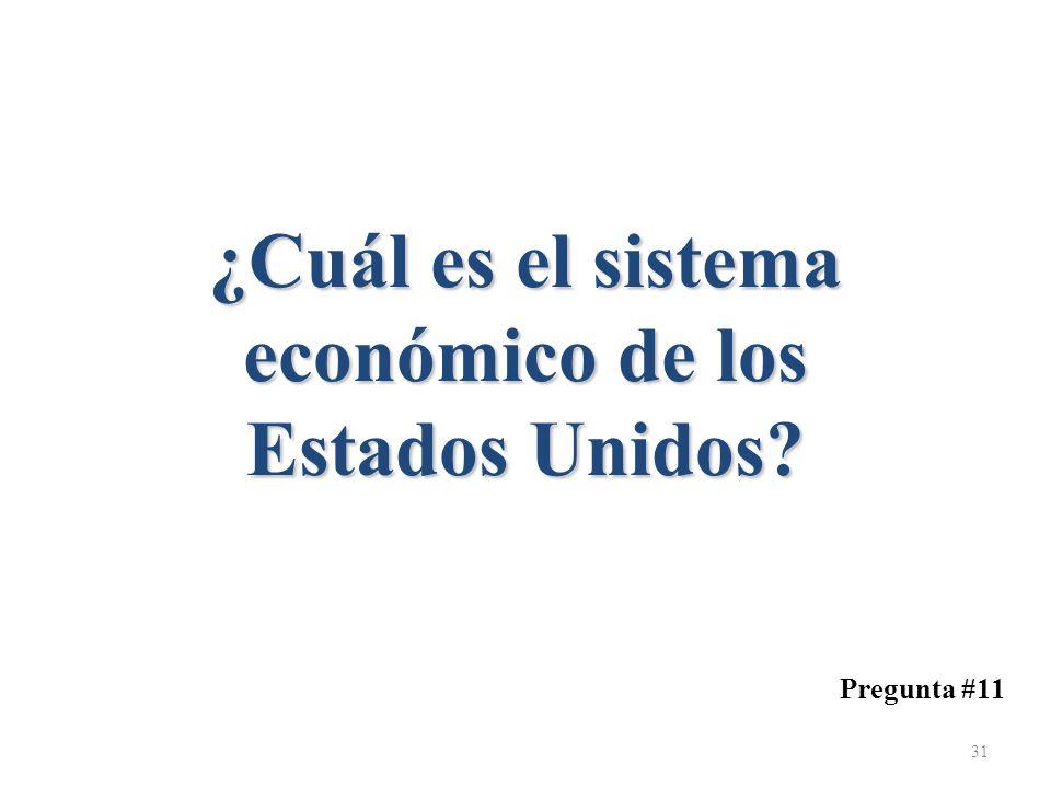 ¿Cuál es el sistema económico de los Estados Unidos