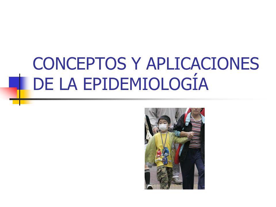 CONCEPTOS Y APLICACIONES DE LA EPIDEMIOLOGÍA