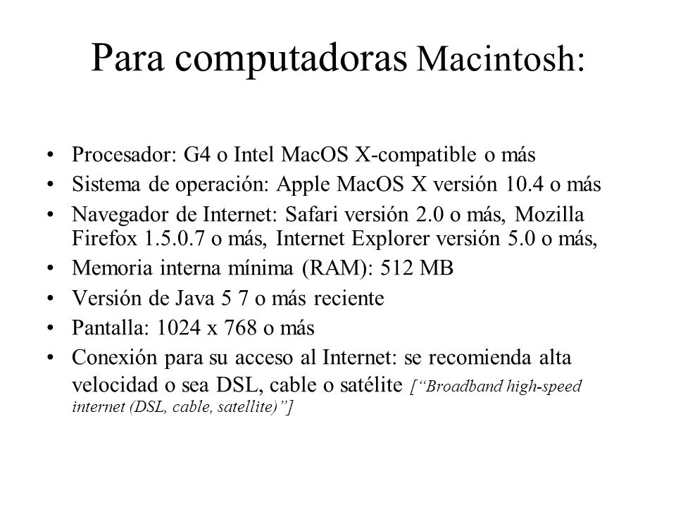 Para computadoras Macintosh: