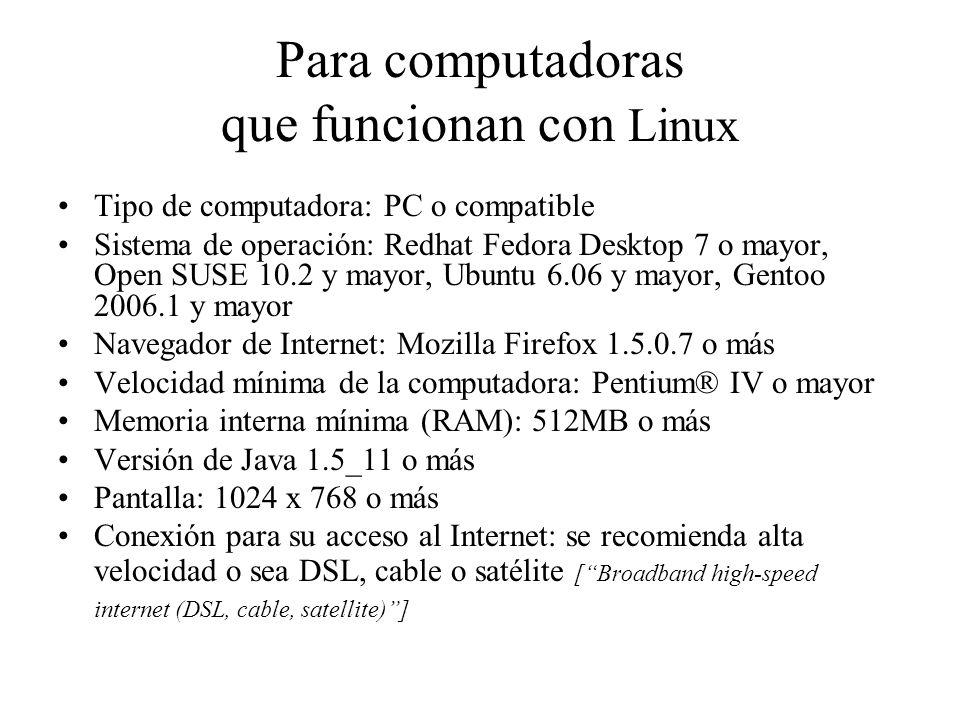 Para computadoras que funcionan con Linux