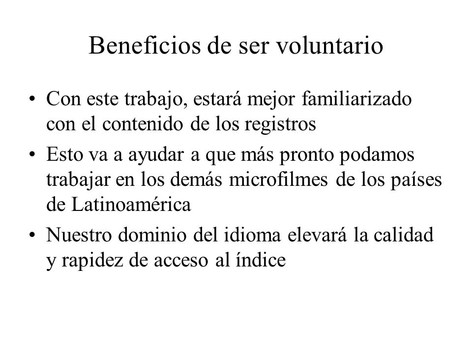 Beneficios de ser voluntario