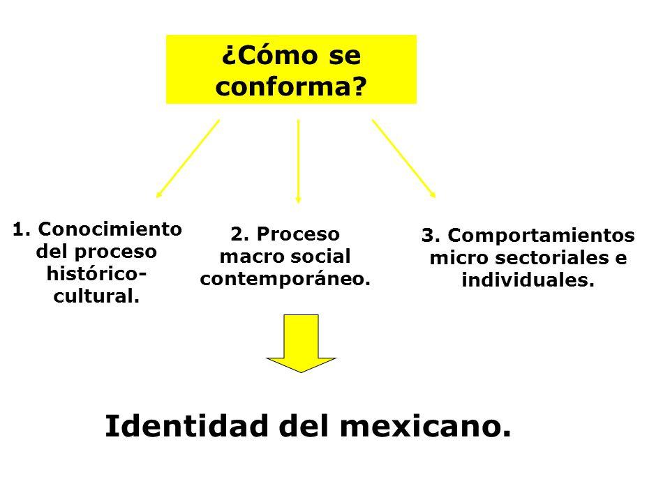 Identidad del mexicano.