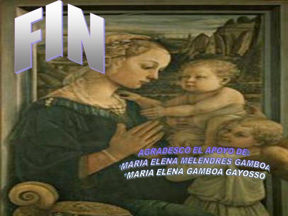 FIN AGRADESCO EL APOYO DE: *MARIA ELENA MELENDRES GAMBOA