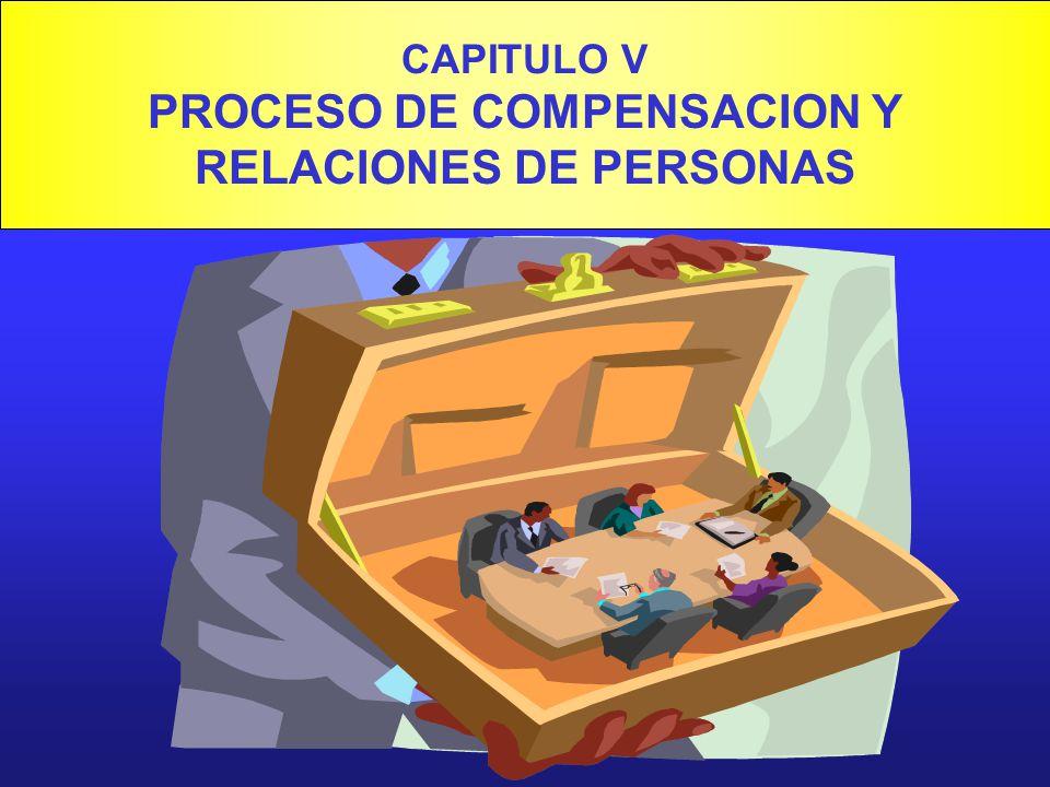 CAPITULO V PROCESO DE COMPENSACION Y RELACIONES DE PERSONAS